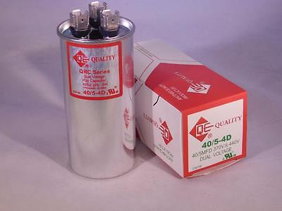 DUAL 40/5 MFD 370-440vac Electric Motor Run Oil Filled Capacitor uf HVAC