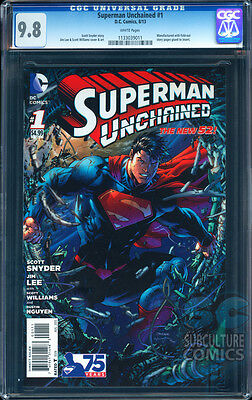 Superman Unchained #1 Cgc 9.8 - Certified Cgc 9.8 - Sold Out First Print Edition