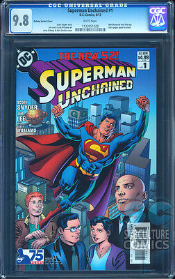 Superman Unchained #1 Cgc 9.8 - Certified Cgc 9.8 - Ordway Modern Age Variant
