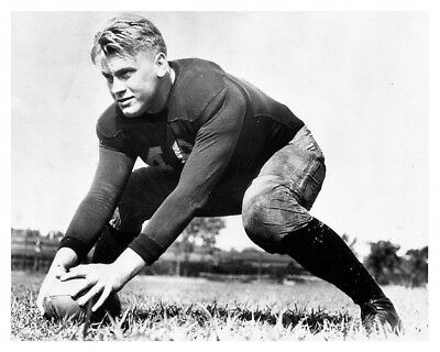 Gerald Ford With The Football University Of Michigan 8 x 10 Silver Halide Photo