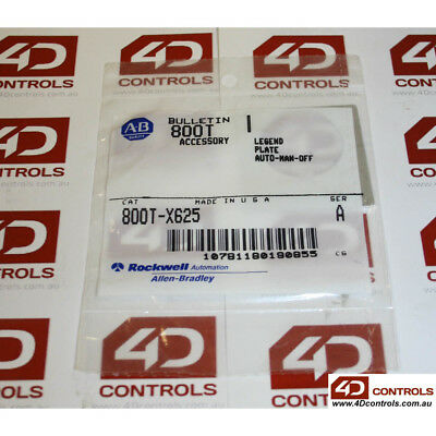"Allen Bradley 800T-X625 Legend Plate, Standard, ""AUTO-MAN-OFF"" - New Surplus ..."