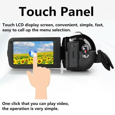 3.0'' LCD Screen 16X Zoom Full HD 1080P 24MP Digital Video Camera DV Camcorder
