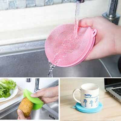 Flexible Silicone Magic Sponge Brush Kitchen Home Washing Cleaning Cleaner Tool
