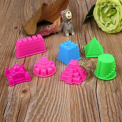 7X Castle Sand Clay Mold Portable Baby Kids Educational Mould Toy Beach Sand Toy