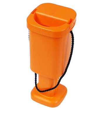 5 Charity Money Collection Boxes - Orange - Brand New Plastic Tins with Seals