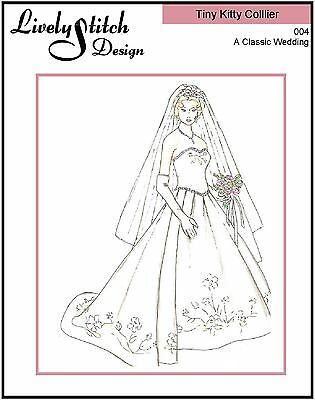 "A Classic Wedding / pattern for 10"" Tiny Kitty Collier doll by Tonner"