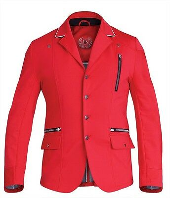 New! Fair Play Men's Softshell Competition/show Jacket In Red