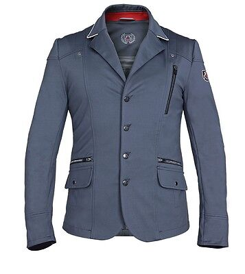 New! Fair Play Men's Softshell Competition/show Jacket In Grey
