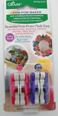 Clover Pom Pom Maker - Extra Small (20 & 25mm diameter)
