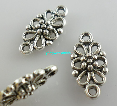 60/90pcs Ancient silver/Gold Earring Connectors Charms Spacer Beads 8*16mm