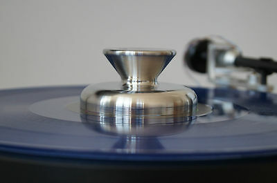 Soundeck by SoundDampedSteel.com turntable damping puck Stainless Steel