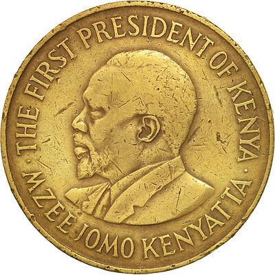 [#503155] Kenya, 10 Cents, 1971, S, Nickel-brass, KM:11