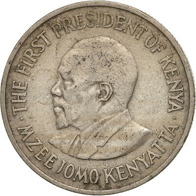 [#503164] Kenya, 50 Cents, 1971, SS+, Copper-nickel, KM:13