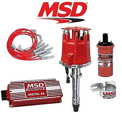 msd ignition complete kit digital 6al distributor wires coil msd 90011 complete ignition kit digital 6a distributor wires coil bracket