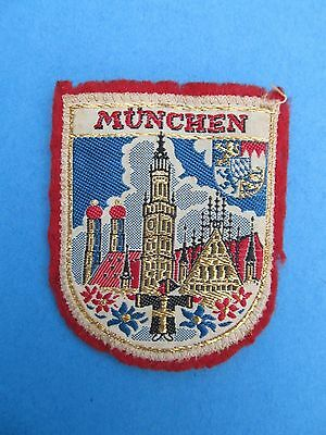 Vintage Munchen Bararia Germany Travel Patch