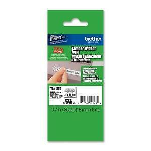 """Brother TZe-SE4 3/4"""" (18mm) Security P-touch Tape for PT2710, PT-2710, TZESE4"""