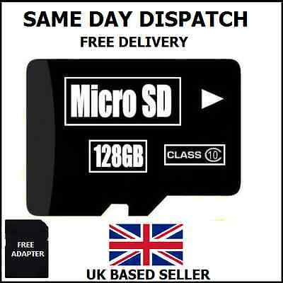 128GB Micro SD Card Class 10 TF Flash Memory SDHC - Lifetime Warranty/UK SELLER