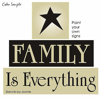 Joanie Stencil Family Everything Barn Star You Paint Country Primitive Signs