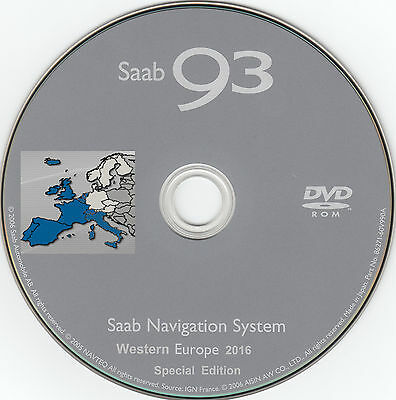 SAAB DVD Navigation System WEST EUROPE 2016