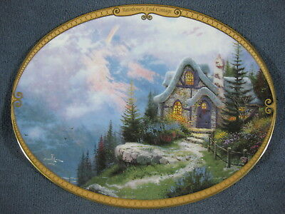 Scenes Of Serenity Rainbow's End Cottage Thomas Kinkade Collector Plate with COA