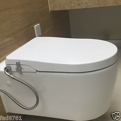 Hibbent Non Electric Toilet Seats with Bidet Sprayer - European Style U-Shaped