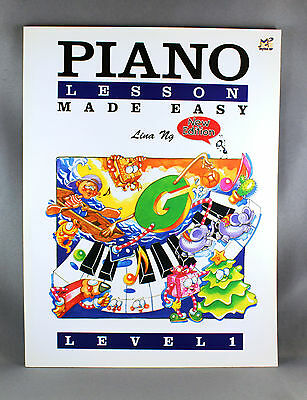 Piano Lesson Made Easy Level 1 By Lina Ng - Brand New