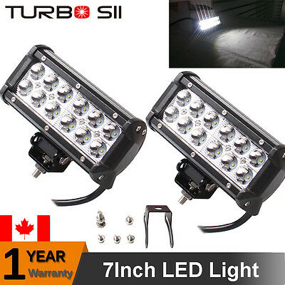 2x CREE 36W 7INCH LED WORK LIGHT BAR SPOT JEEP Driving Lamp OFFROAD 4WD Boat ATV
