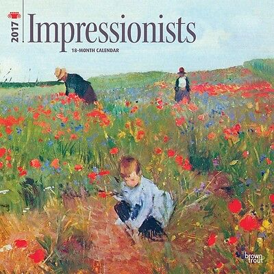 Impressionists 2017 Wall Calendar NEW by Browntrout