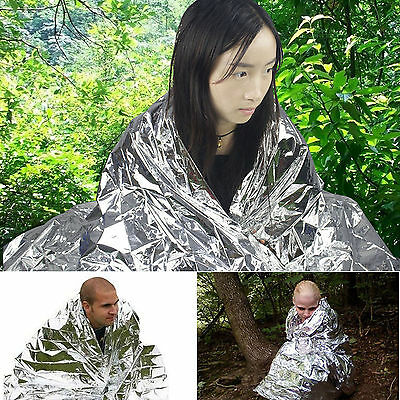 Camping Emergency Blanket Thermal First Aid Survival Foil Waterproof Rescue Kit