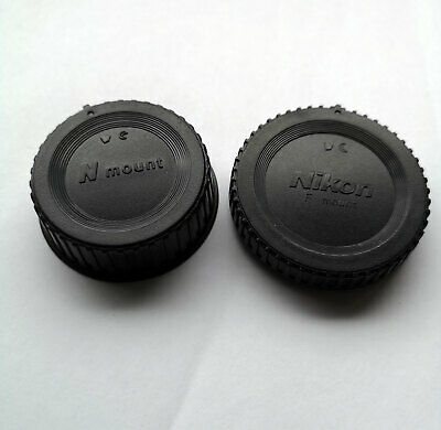 Nikon Style Body And Rear Lens Cap Set Generic For Slr D-Slr Fits Nikon Mount