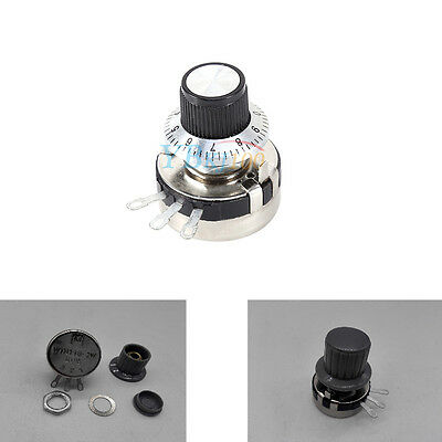 1x WTH118-2W 10K ohm Round Shaft Carbon Linear Variable Potentiometer Dial Knob