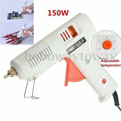 150W Electric Heating Hot Melt Glue Gun Adjustable Temperature Tool AC 100-240V