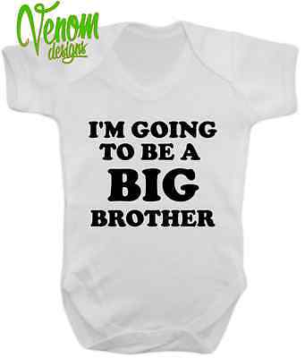 I'm going to be a Big Brother New Baby Grow Novelty Body Suit  Announcement GIFT
