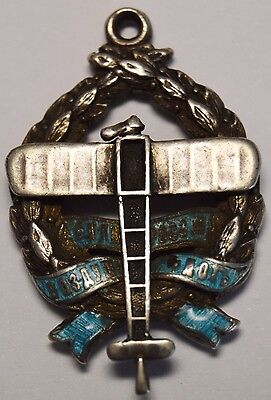 Russia Silver with Enamel 1912 Support for Air Force Jetton