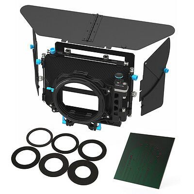 "FOTGA DP500III DSLR Swing-away Matte Box+ND1000 4X4"" Glass Filter f 15mm Rod Rig"
