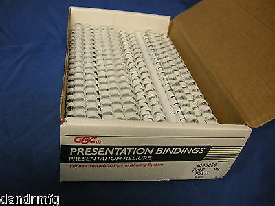 "Lot Of White 7/16"" 19 Ring Binding Spines For Office School College Presentation"