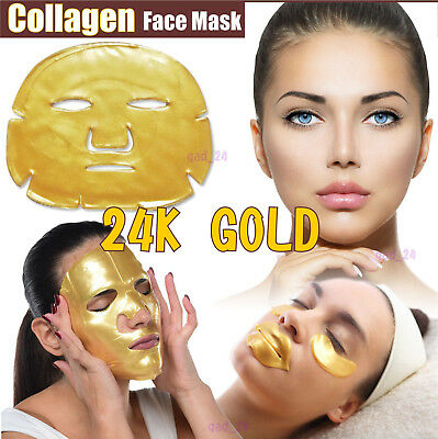Collagen Mask Face Lips Eyes Facial Gold Neck Anti Ageing Wrinkle fill Skin Care