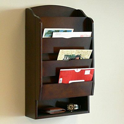 Proman Products Door Entry Organizer W/ Mail Sorter & Key Holder Compartment.