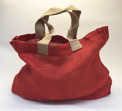 Nutley's Coloured Hessian Bag handles harvest trug vegetable storage tomato red