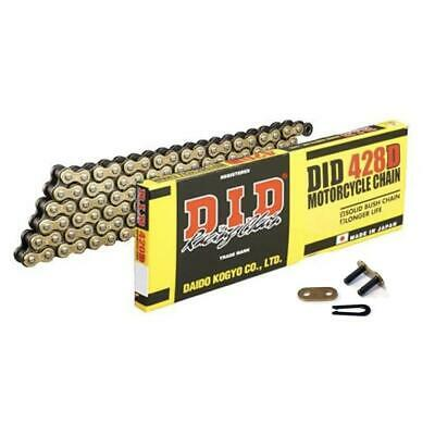 DID STD Gold Motorcycle Chain 428DGB 132 links fits Hyosung XRX125 SM 07-08