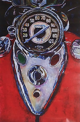 "Harley-Davidson Wall Poster Collectible Art ""speedo"" #301"