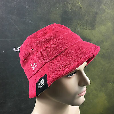 New era Bucket Hat Terry Scarlet Red Cap Hat NWT priced  31.99 Free Shipping 79e42c94e5ab