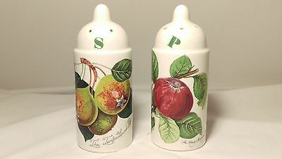 Portmeirion Pomona Salt and Pepper Set with Squash Pear and Hoary Apple Design