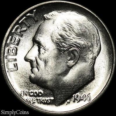 1946-D Roosevelt Dime ~ BU Uncirculated ~ LUSTER! 90% Silver US Coin