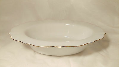 "Macbeth Evans American Sweetheart Monax GOLD Trim 10 5/8"" Oval Vegetable Bowl"