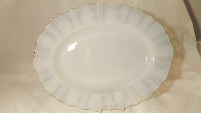 "Macbeth Evans American Sweetheart Monax GOLD Trim 13 1/4"" Oval Serving Platter"