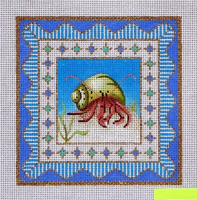 A.Lawford Shell HP Needlepoint 18 ct canvas