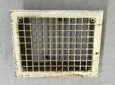 Vintage Stamped Steel Floor Heat Grate Register Vent Old Hardware 10x14 1176-16