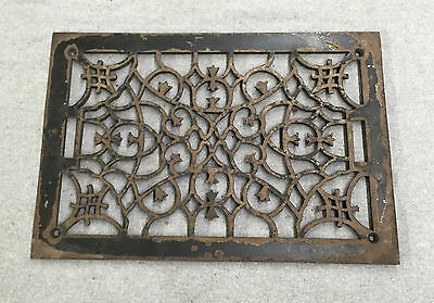 Antique Cold Air Return Heat Grate Victorian Vent Old Vintage 11x17 1178-16