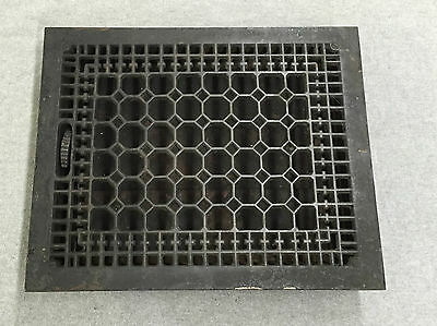Antique Cast Iron Heat Grate Vent Register Old Vtg Honeycomb 12x15 1179-16